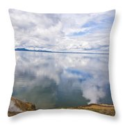 Clouds And Steam Throw Pillow
