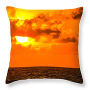 Clouds And Sun Play  Throw Pillow