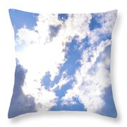 Clouds And Sunshine Throw Pillow