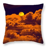Clouds And The Moon Throw Pillow