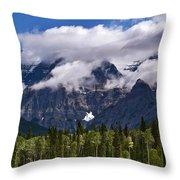 Clouds Around Mountains, Robson Throw Pillow