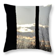 Clouds At Dusk II Throw Pillow