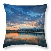 Clouds At Lower Sunset Lake Throw Pillow