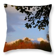 Clouds Clearing Throw Pillow