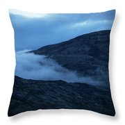 Clouds Cover The Mountains Of The Ice Throw Pillow