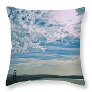 Clouds Dropping In Throw Pillow