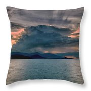Clouds Explosion Throw Pillow