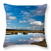 Clouds Flying Clouds Floating Throw Pillow
