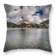 Clouds Form Over Lake Helen Throw Pillow