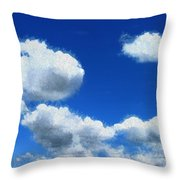 Clouds In A Blue Sky Throw Pillow