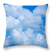 Clouds In Blue Sky Throw Pillow