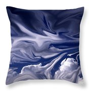 Clouds In Chaos Throw Pillow