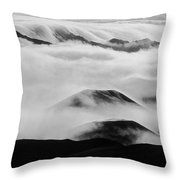 Maui Hawaii Haleakala National Park Clouds In Haleakala Crater II Throw Pillow