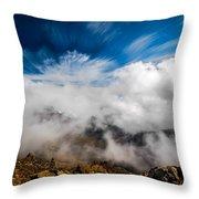 Clouds In Haleakala Throw Pillow