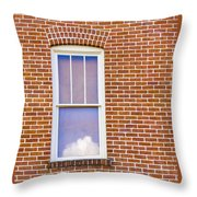 Clouds In My Window Throw Pillow