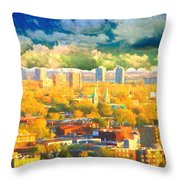 Clouds In The City Throw Pillow