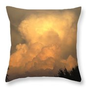 Clouds In The Evening II Throw Pillow