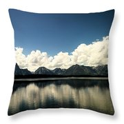 Clouds In The Grand Tetons Throw Pillow