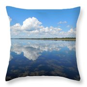 Clouds In The Lake Throw Pillow