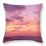 Clouds In The Sky At Sunset, Pacific Throw Pillow