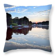 Clouds In The Water Throw Pillow