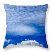 Layers Of Clouds Throw Pillow