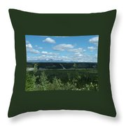 Clouds Mountains And Trees Throw Pillow