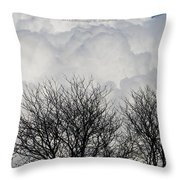 Clouds Named Cotton Throw Pillow