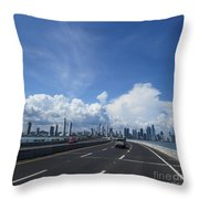 Clouds Of A City Throw Pillow