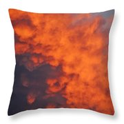 Clouds Of Fire Throw Pillow