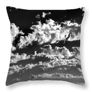 Clouds Of Freycinet Bw Throw Pillow