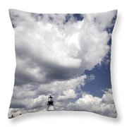 Clouds Of Glory - Portland Headlight Throw Pillow