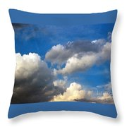 Clouds Of Today Throw Pillow
