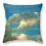 Clouds Of Tomorrow Throw Pillow