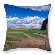 Clouds Over A Baseball Field, Field Throw Pillow