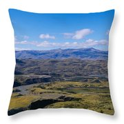 Clouds Over A Mountain Range, Torres Throw Pillow