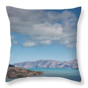 Clouds Over Akaroa Harbor, Akaroa Throw Pillow