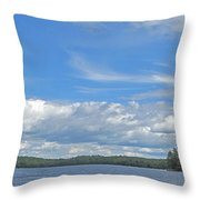 Clouds Over Algoma Throw Pillow