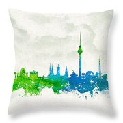 Clouds Over Berlin Germany Throw Pillow by Aged Pixel