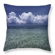Clouds Over Bora Bora Throw Pillow