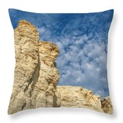 Clouds Over Chalk Pyramids Throw Pillow