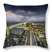 Clouds Over Gulf Shores Throw Pillow