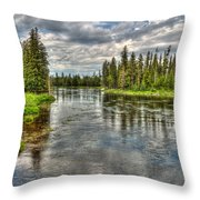 Clouds Over Henry's Fork Throw Pillow
