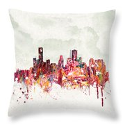 Clouds Over Houston Texas Usa Throw Pillow by Aged Pixel