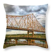 Clouds Over King Bridge Throw Pillow
