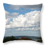 Clouds Over Lake Michigan Throw Pillow
