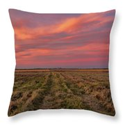 Clouds Over Landscape At Sunset Throw Pillow