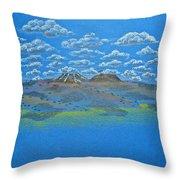 Clouds Over Lassen Throw Pillow
