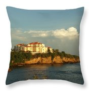 Clouds Over Library Throw Pillow
