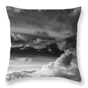 Clouds Over Loch Laich Throw Pillow